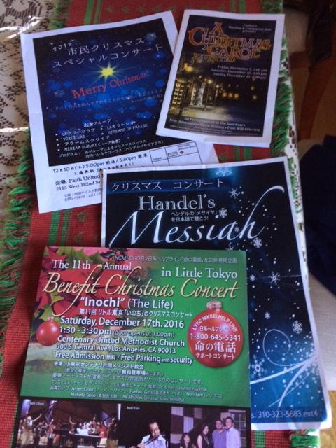 南カリフォルニア日本人教会のクリスマスコンサート